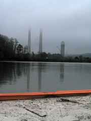TVA's Kingston Plant with its Coal Ash in the foreground