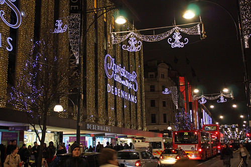 Lights at Debenhams - Oxford Street London by David_and_Marilyn_King.