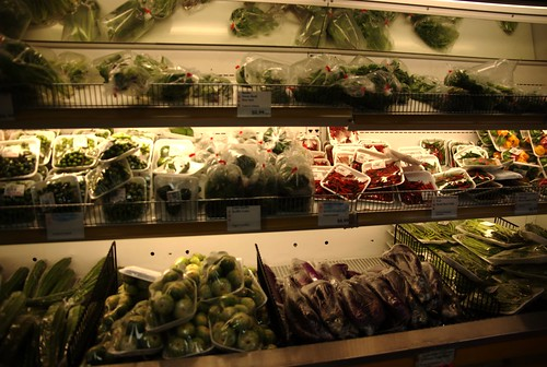 The fresh herbs counter