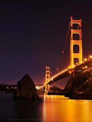 Golden Gate Bridge - San Francisco, California (Jim Patterson Photography) Tags: ocean sanfrancisco california longexposure nightphotography bridge sea night dark lights bay glow pacific bridges 101 pacificocean goldengatebridge goldengate sausalito sfbay fortbaker nikkor1870mm nikond300 beneathblueseas beneathblueseascom jimpattersonphotography jimpattersonphotographycom seatosummitworkshops seatosummitworkshopscom