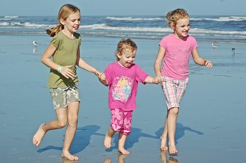 Girls at Little Talbot Beach