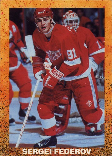 Sergei Federov, Detroit Red Wings, 90-91 Off-Brand hockey cards