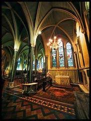 Temple Bars (Sator Arepo) Tags: dublin church lamp architecture reflex cathedral wide olympus pillars angular ultrawide zuiko christchurchcathedral e330 uro 714mm retoafz20101005