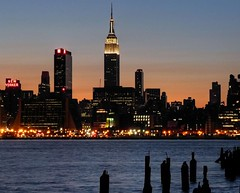 New York City Serenade (joiseyshowaa) Tags: street new york city nyc sunset sky ny newyork never reflection building glass ferry skyline night river that square landscape liberty harbor town twilight cityscape waterfront state dusk manhattan 911 11 newyorker line september midtown empire land empirestatebuilding times hudson september11 scape sleeps mid hdr hoboken scraper 42nd weehawken skysraper evenig joiseyshowaa joiseyshowa