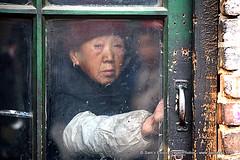 IMG_9473 (Sam's Exotic Travels) Tags: china door woman senior chinese doorway frame shanxi province taiyuan