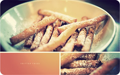 Fritter Fries (isayx3) Tags: food boys 35mm nikon triptych cinnamon sugar fries farmer d3 fritter yummmy 35mmf2af powerder