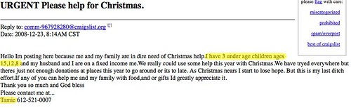 Urgent Please Help for Christmas.