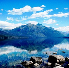 Hiker's Heaven, Lake McDonald Summer Bliss, Glacier Park, Montana (moonjazz) Tags: park trip travel blue vacation mountain lake west reflection nature water beauty wonderful landscape rockies montana superb walk great hike best clean clear explore summit vista geology wilderness pure mcdonald preservation protected pristine skiy lakemcdonald