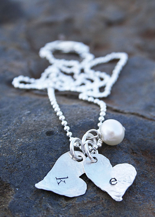 dainty hearts on a chain