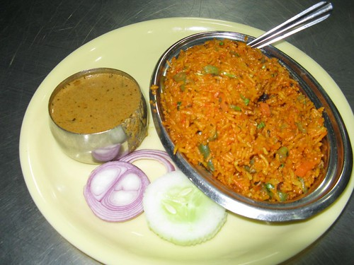 Vegetarian Biryani (if I'm not mistaken)