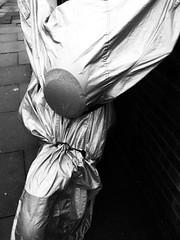 angel (blopsmen) Tags: bw london monochrome bike monocromo calle pb bn motorbike cover covered moto rua steet funda newham