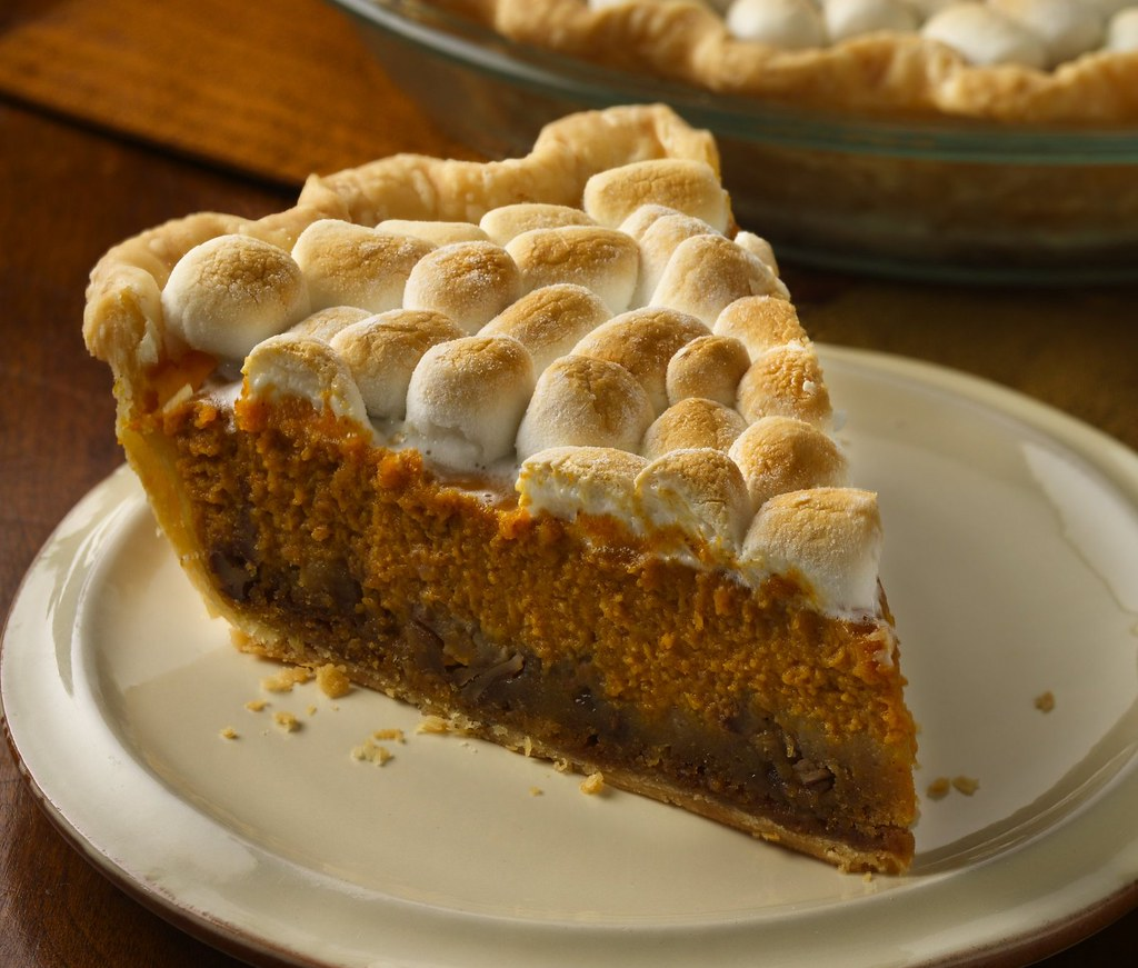 RECIPE: Pumpkin-Ginger Pie with Golden Marshmallow Topping