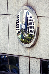 feng shui mirror (M3R) Tags: reflection building window canon indonesia concrete mirror jakarta round fengshui 50d sampoernastrategicsquare sudirman canonef70200mmf4lisusm tolakbala