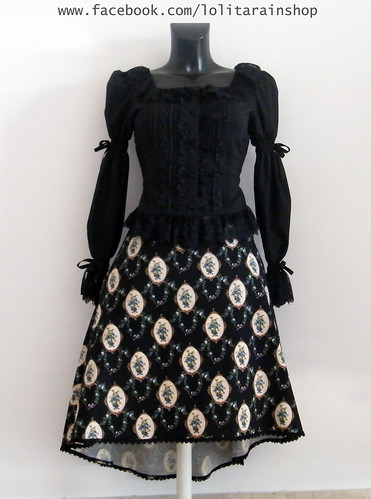 Miho matsuda floral double lenght skirt