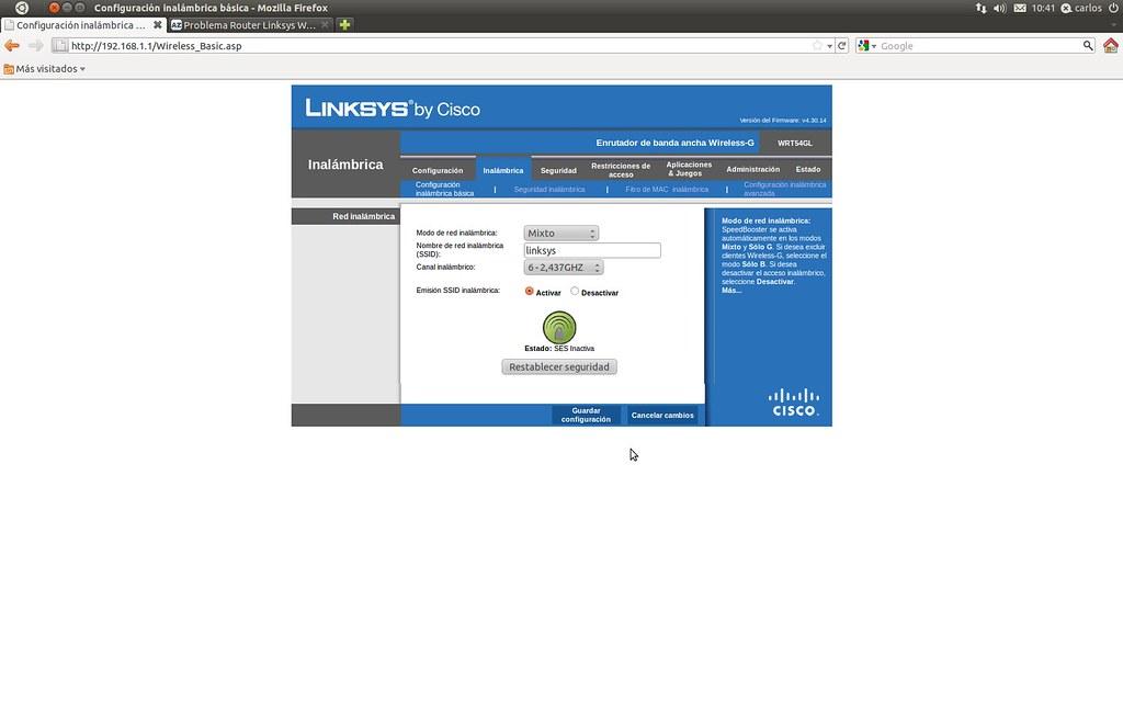Problem�n router linksys WRT54GL EU - Taringa!