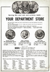 Department Stores Coin Shop ad