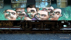 Passengers (Fat Heat .hu) Tags: window train graffiti panel character fat crowd down heat heads cfs fatheat