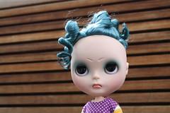 Diana's Coconut custom Quarrel (G.Baby Dolls) Tags: portland doll coconut or mini mohair angry blythe custom meet gbaby reroot 2011 blythecon