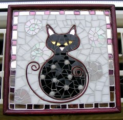 Polka Dot Cat (stiglice - Judit) Tags: cat mosaic mosaique mozaiek mozaik