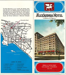 Alexandria Hotel brochure, front cover and map