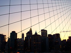 NY View (muknaram) Tags: sunset ny newyork downtown buidings brookylnbridge