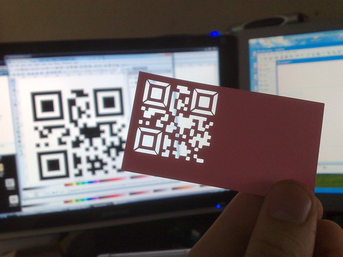 qr code business card - with a twist