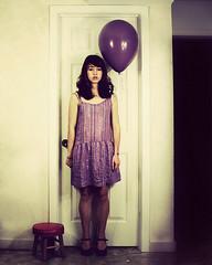 Girl in violet dress di Chrissie White