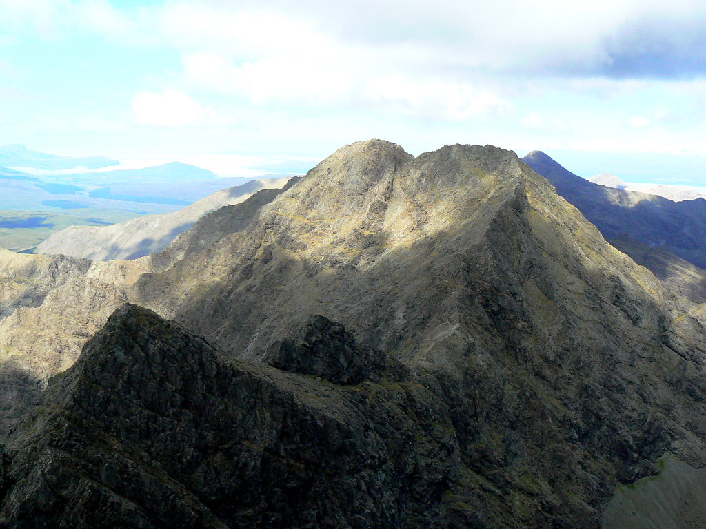 View north along the Cuillin Ridge