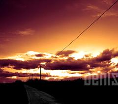 SENSAZIONI (denis magro) Tags: road new trees sunset red sky italy orange sun house sol home colors clouds de landscape soleil sonnenuntergang coucher himmel du ciel le nuages puesta soe sensation anawesomeshot denismagro