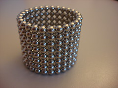 NeoCube (individual8) Tags: june silver germany desk hamburg balls 2008 magnetic neocube
