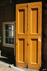 Yellow door (paral_lax <)><) Tags: ochre geel oker yellowdoor geledeur