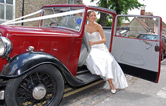 032 (Margaret Stranks) Tags: uk wedding car june vintage bride oxford 2008 headington