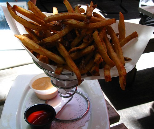 Press 195's Belgian Fries, in the Daytime