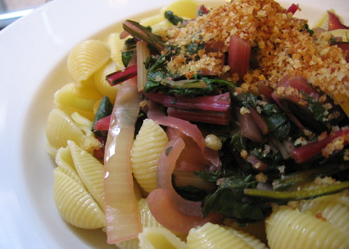 swiss chard with pasta