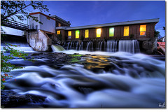 Lumsden Dam Temiscaming, Quebec - Tokina 11-16 (Pierre Contant) Tags: explore temiscaming quebec abitibitmistamingue abitibi tmistamingue rocks nikon d80 falls creek tourism river rivire ruisseau stream tokina 1116 tokinaatx116prodx hdr night dam barrage hydroquebec hydro forestery forest wood pierre contant pierrecontant photoshop cs3 timeexposure time exposure localsknow canada