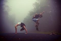 What They Do (SARAΗ LEE) Tags: road boy cold fog hawaii random foggy skateboard midair bigisland kona backbend lorens kaloko sarahlee legothenego niap vivantvie