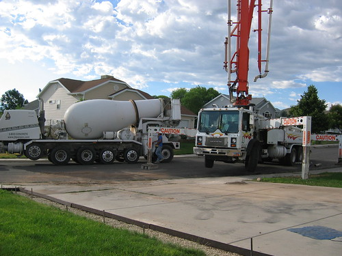 Here comes the cement mixer!