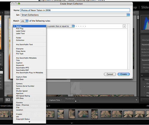 Lightroom 2.0 Smart Collections
