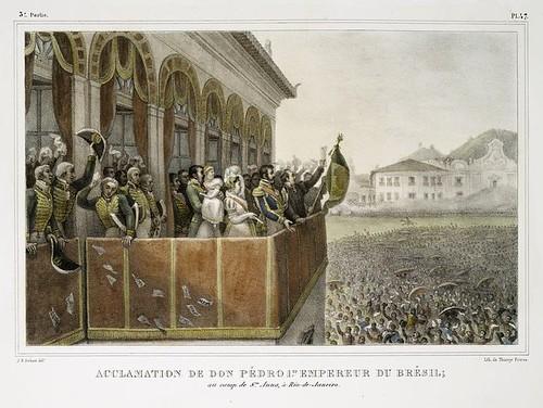 016-Aclamacion de Don Pedro I emperador del Brasil, en el campo de Santa Ana en Rio de Janeiro