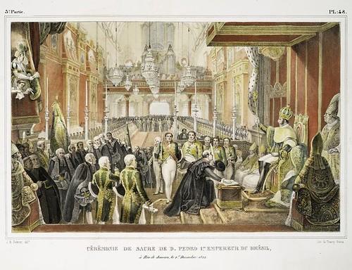 017-Ceremonia de consagracion de Don Pedro I emperador del Brasil en Rio de Janeiro, el primero de diciembre de 1822