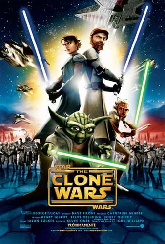 desenfocados 拍攝的 clonewars_poster。