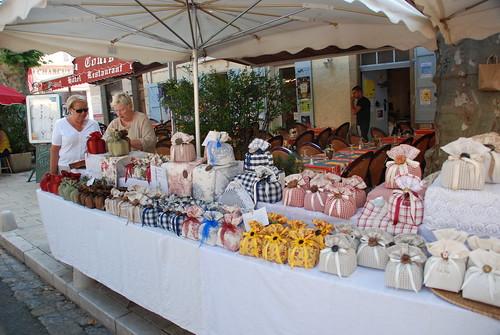 Cotignac, market day, July 2008