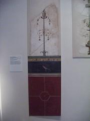 Wall Painting: Red Dado and black Plinth with candelabrum holding vases and floral elements (peterjr1961) Tags: nyc newyorkcity newyork art museum roman met themet metropolitanmuseumofart