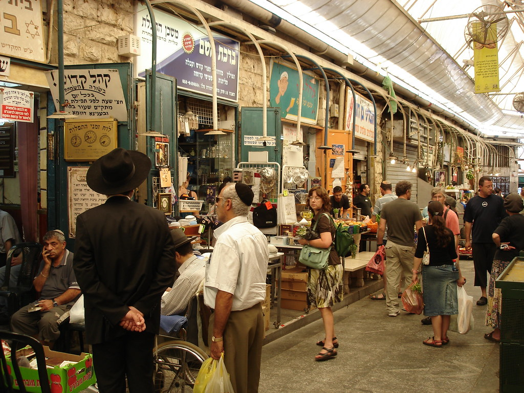 The synagogue in the shuk: long view
