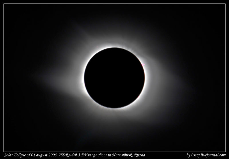 HDR image of eclipse