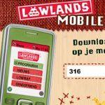Lowlands map voor op de mobiele telefoon