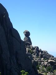 L'Omo di Cagna en arrivant par la ligne de cairns en provenance de la plaine de fougères