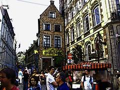 "Antwerp, Belgium 114 - City Street - ""Comic style"" tribute (Claudio.Ar) Tags: street city color calle europa europe comic belgium sony fine ciudad explore antwerp belgica dsc breathtaking amberes h9 cruzadas supershot comentada abigfave anawesomeshot experimentl diamondclassphotographer flickrdiamond newacademy photosexplore explorewinnersoftheworld claudioar claudiomufarrege daarklands"