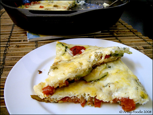 Slices of Zucchini Blossom Frittata