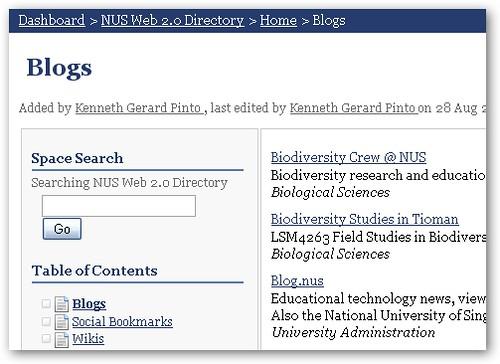 NUS Web 2.0 Directory